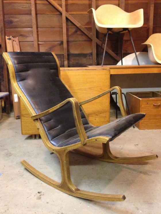 The Heron rocking chair prior to disassembly - doesn't look that bad, right?